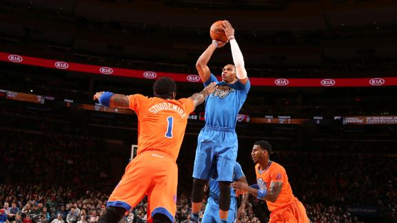 Video - Westbrook, Thunder Rout Knicks