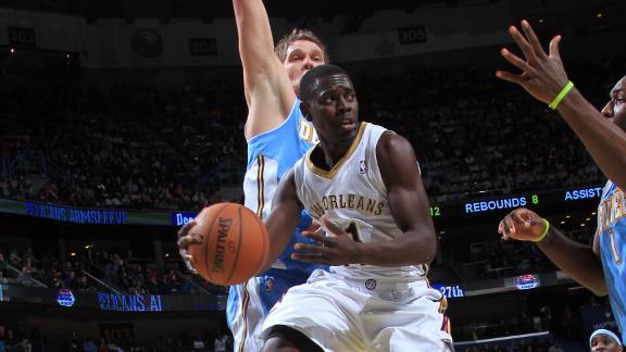 Evans shines as Pelicans sail past Nuggets