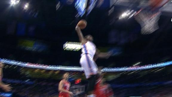 Video - Durant Posterizes Harden With Vicious Dunk