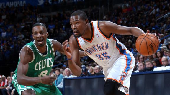 Jackson, Durant lead Thunder over Celtics