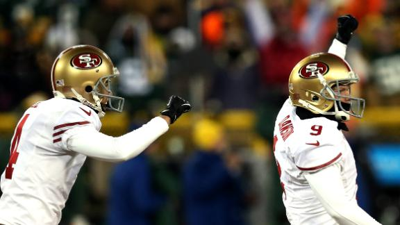 Niners get past Packers on Dawson's field goal