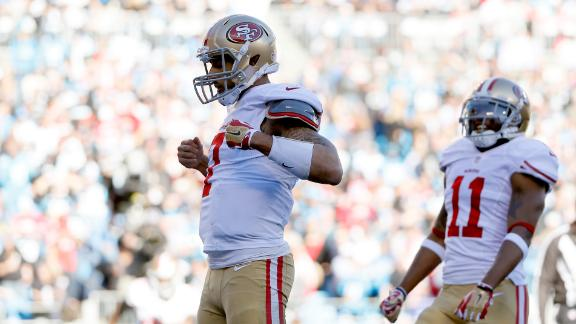 Video - Kaepernick, 49ers Top Panthers