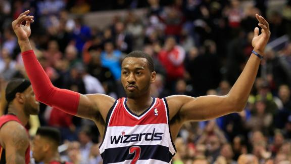 Video - Wall Leads Wizards Past Heat