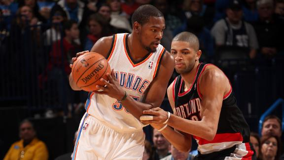 Durant drops 46 as Thunder down Blazers