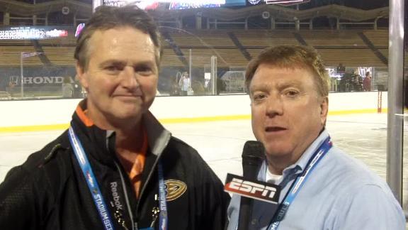 Kings, Ducks happy with Dodger Stadium ice