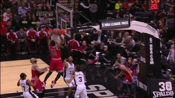 Video - Butler Jams One off the Miss