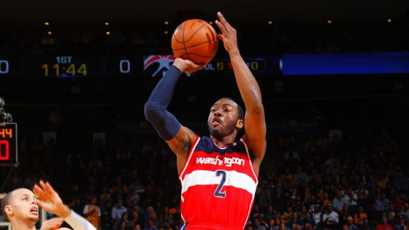 Video - Wall, Wizards Fight Off Warriors