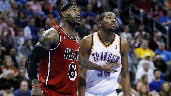 Kevin Durant says chasing LeBron James not his motivation