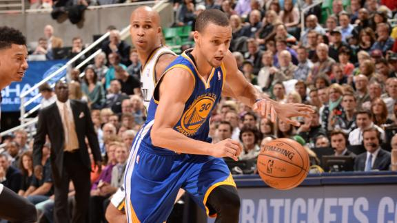 Curry scores 44 as Warriors rally vs. Jazz