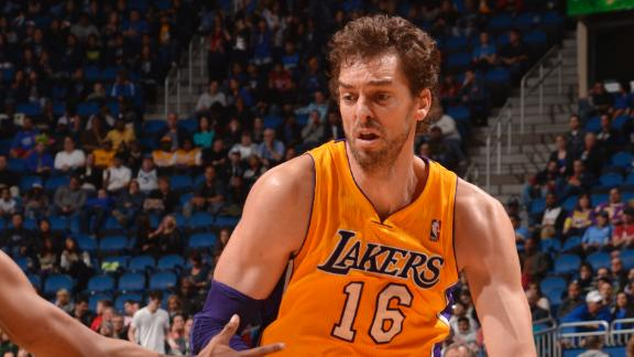 Lakers' Gasol sidelined 3 games with strained groin