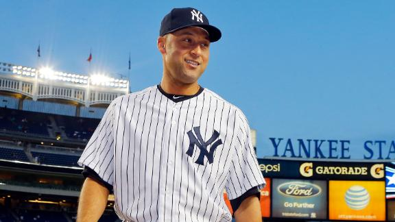 Yanks' Jeter hits field, takes batting practice