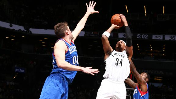 Nets hold off Sixers to stop 3-game slide