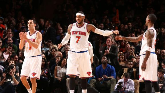 Melo, Knicks fire on all cylinders vs. Nuggets
