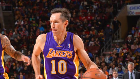 Nash leads Lakers to win on 40th birthday