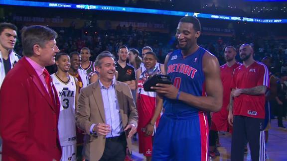 Pistons' Drummond takes Rising Stars MVP