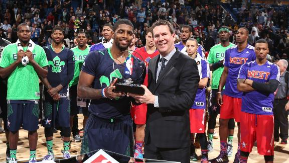 Cavs' Irving named NBA All-Star Game MVP