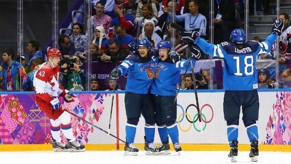 Selanne, Finns oust Russia in quarterfinals