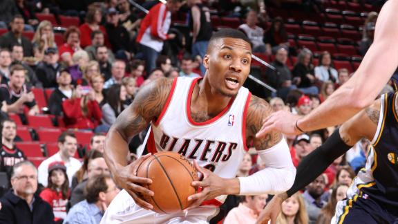 Lillard, Blazers need rally to turn back Jazz