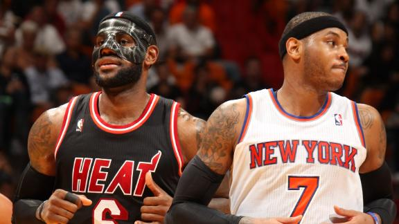 Masked LeBron nets 31 as Heat roll Knicks