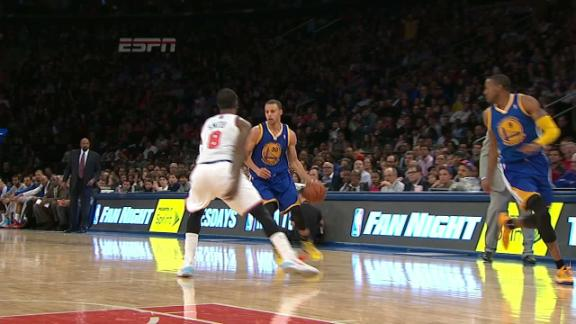 Video - Curry Feeds Iguodala for the Reverse Layup