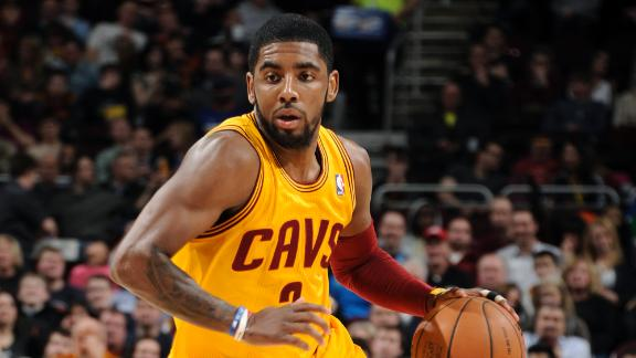 Irving gets 1st triple-double as Cavs top Jazz