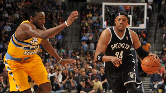 Pierce, Nets bounce back in rout of Nuggets
