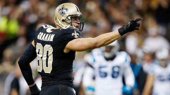 Saints place franchise tag on TE Graham