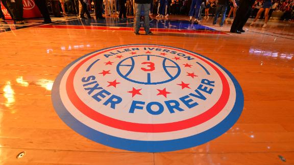 Final Answer: 76ers retire Iverson's number