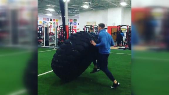 J.J. Watt Flips 1,000-Pound Tire