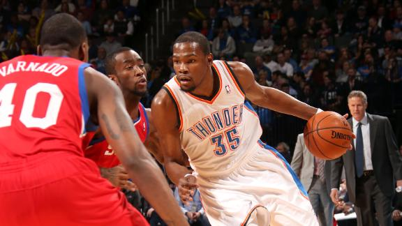 Video - Durant, Westbrook Fuel Thunder To Rout