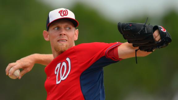 Video - Strasburg Makes Spring Training Debut