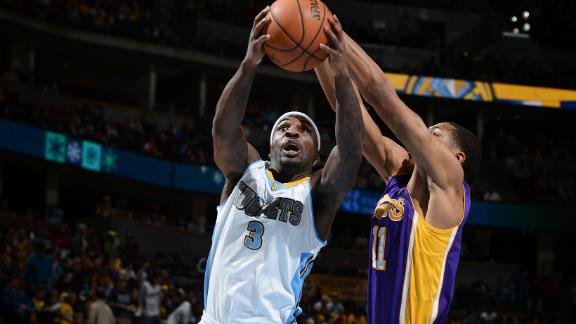 Faried-led Nuggets dispatch skidding Lakers