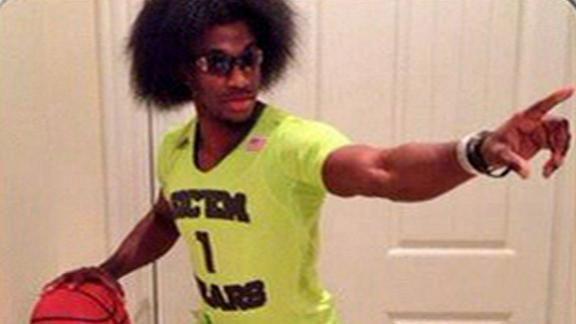 Video - RG III Models Baylor Uniforms, Afro