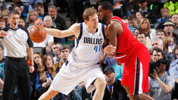 Mavs lose 30-point lead, rally past Blazers