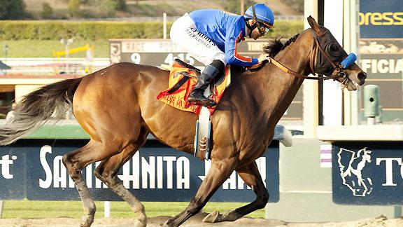 Game On Dude Captures Record Third Santa Anita Handicap