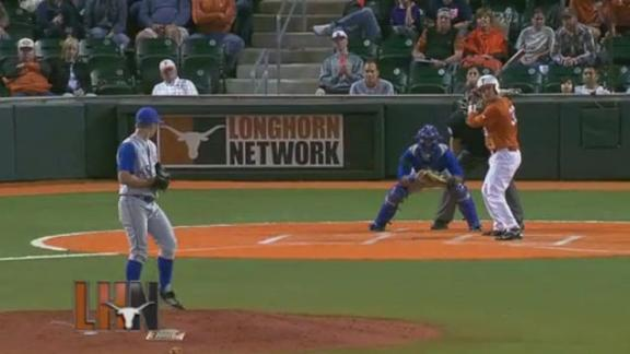 Texas Drops First Game of Kansas Series