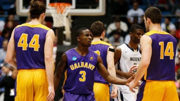 Albany first to advance in NCAA tournament