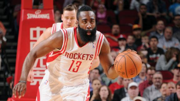 Harden fills void as Rockets roll by Wolves