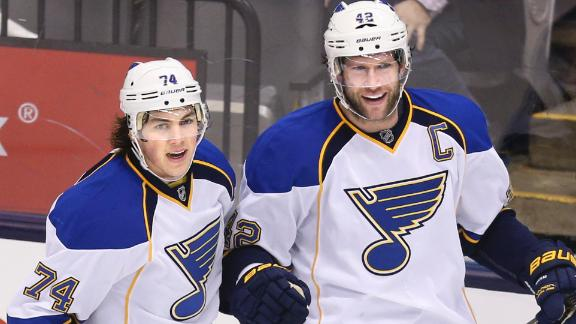 Video - Backes Leads Blues Past Maple Leafs