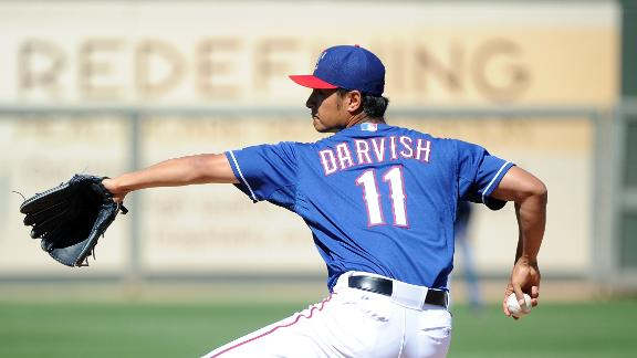 Darvish throws in pen, put on DL