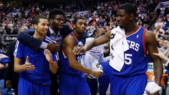 Philadelphia freedom: 76ers stop skid at 26