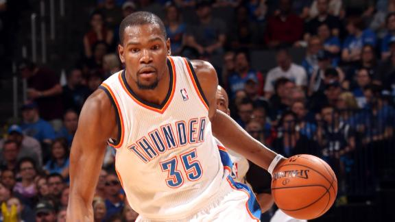Durant points streak at 38 as Thunder cruise
