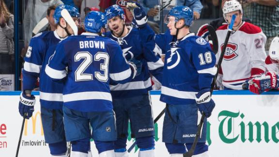 Video - Lightning Strike Canadiens