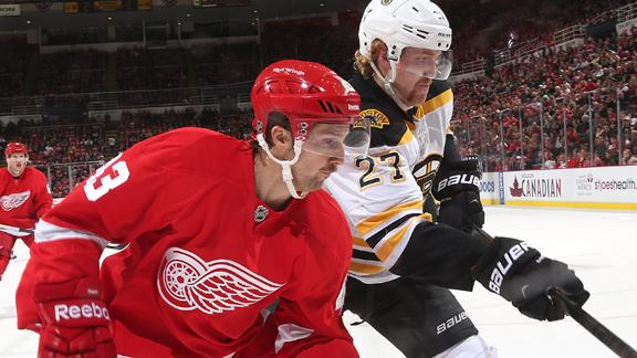Video - Streaking Bruins And Red Wings Face Off