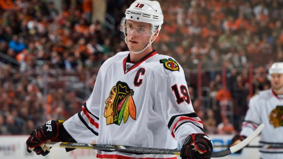 Blackhawks to sit ailing Toews until playoffs