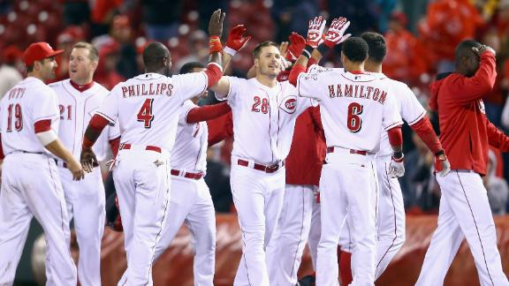 Reds end season-opening slump, top Cards