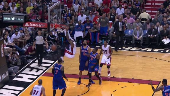 Video - LeBron leads Heat to lead over Knicks