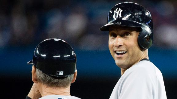 Jeter climbs to 8th place on all-time hit list