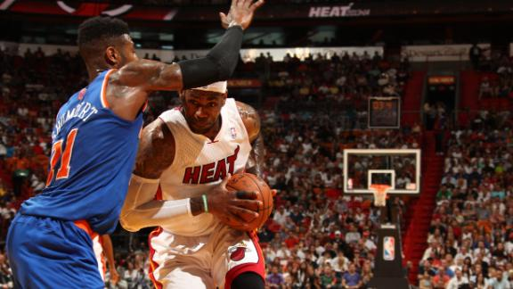 Video - LeBron, Heat Outlast Knicks