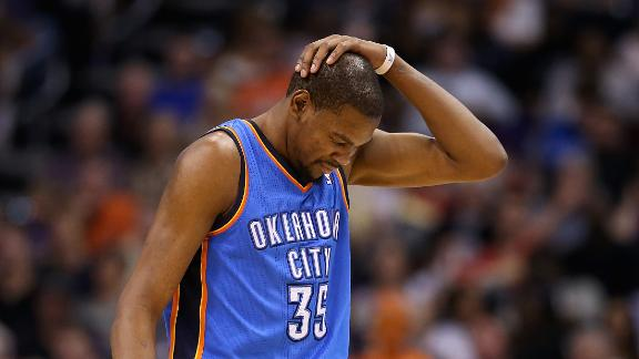 Durant surpasses MJ, but Suns sink Thunder